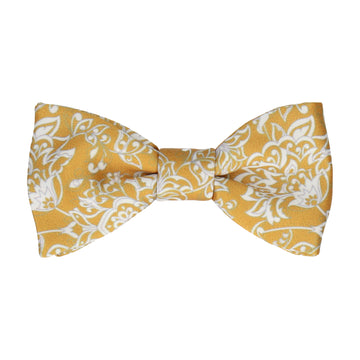 Gold Vintage Floral Bow Tie