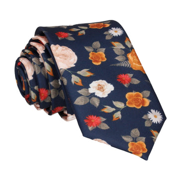 Abbotts Floral Navy Blue Tie