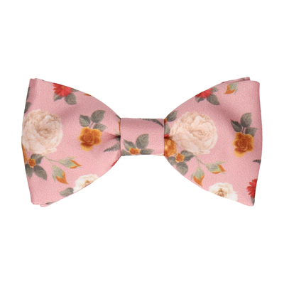 Abbotts Floral Dusky Pink Bow Tie