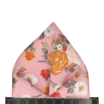 Floral Dusky Pink Pocket Square