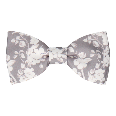 Kyoto in Pale Grey Bow Tie