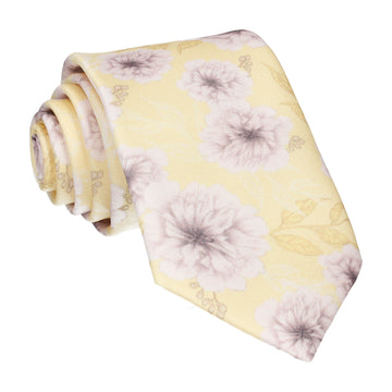 Pale Yellow Wedding Floral Tie