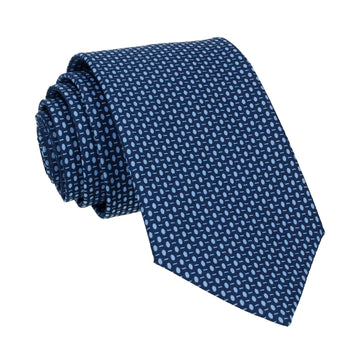 Blue Dots Cotton Tie