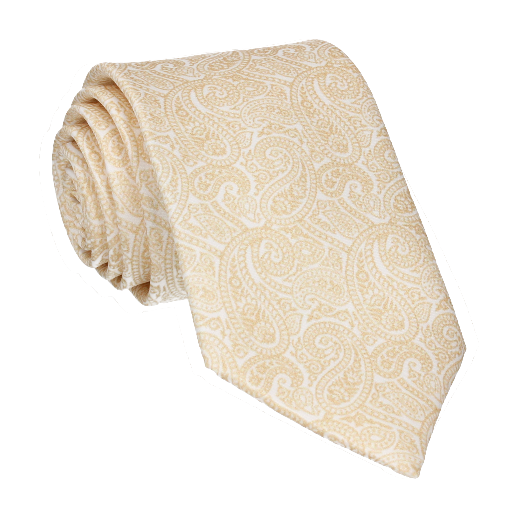 Ellington Paisley Gold Tie