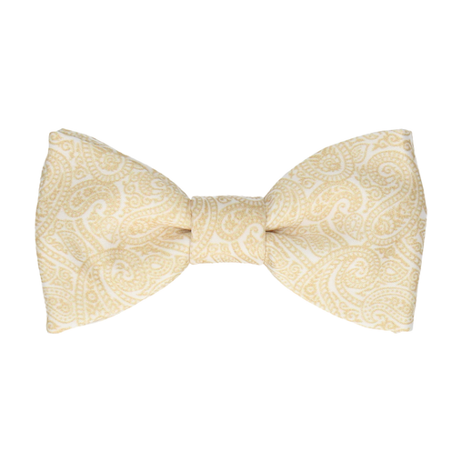 Ellington Paisley Gold Bow Tie
