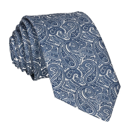 Ellington Paisley Navy & White Tie