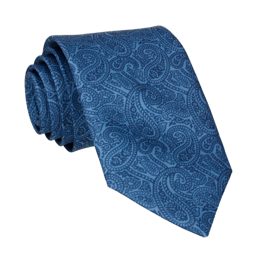 Ellington Paisley Navy & Blue Tie