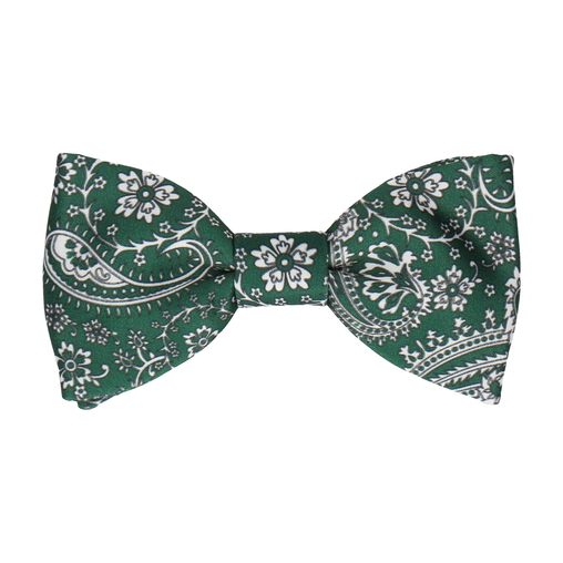 Arya in Forest Green Bow Tie