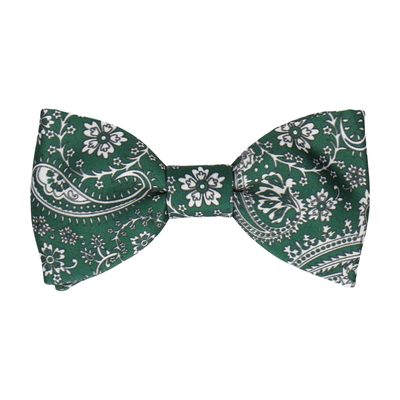 Arya Forest Green Paisley Bow Tie