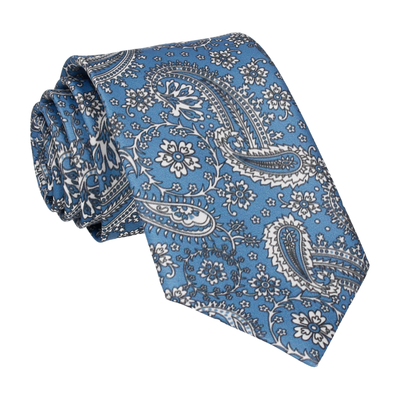 Regal Blue Floral Paisley Tie