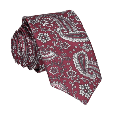 Mulberry Floral Paisley Tie