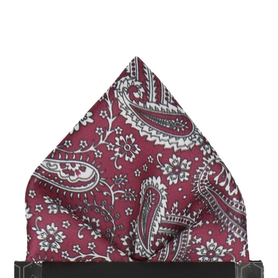 Mulberry Floral Paisley Pocket Square