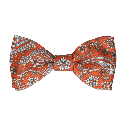 Arya in Sunset Orange Bow Tie