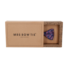 Das Navy Blue & Red Paisley Bow Tie