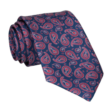 Navy & Red Tribal Paisley Tie