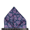 Das in Navy & Orchid Pocket Square