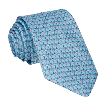 Blue Cocktails Tie