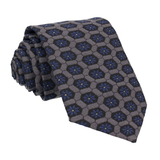 Textured Navy Blue Patterned Fabric Tie