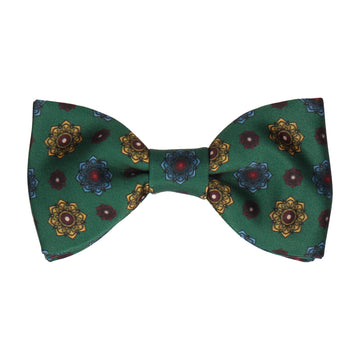 Dark Green Medallion Bow Tie