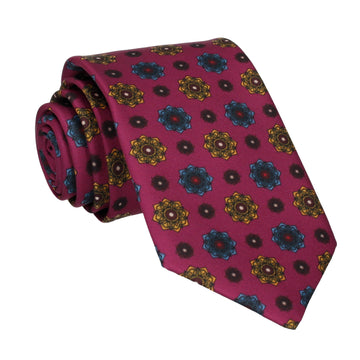 Bloomberg Mulberry Medallion Tie