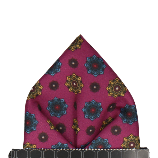 Bloomberg Mulberry Medallion Pocket Square