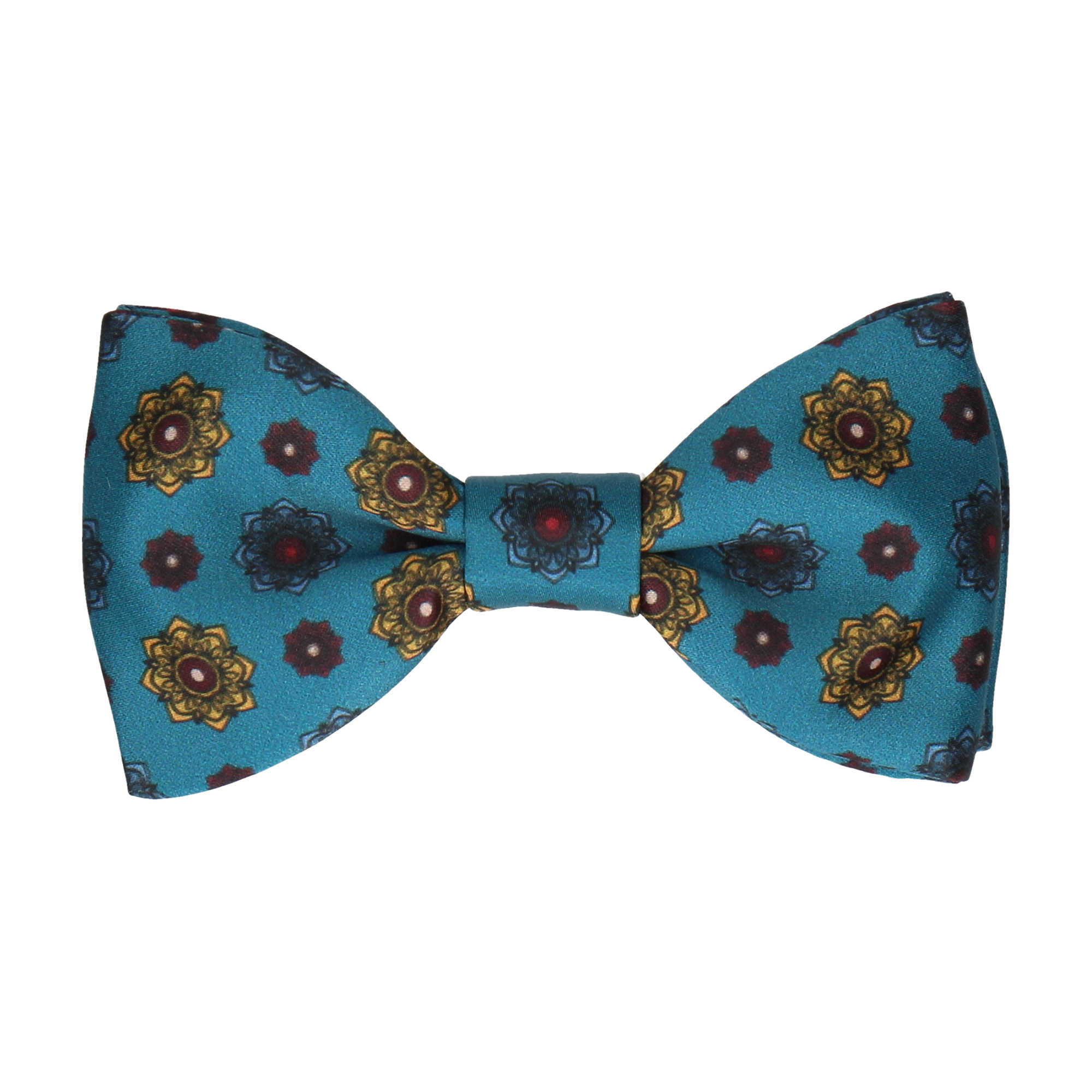 Bloomberg Emerald Sea Teal Medallion Bow Tie