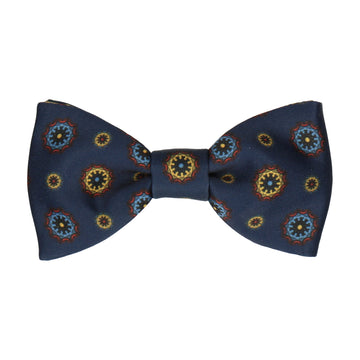 Navy Blue Classic Medallion Bow Tie