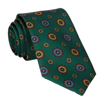 Dark Green Classic Medallion Tie