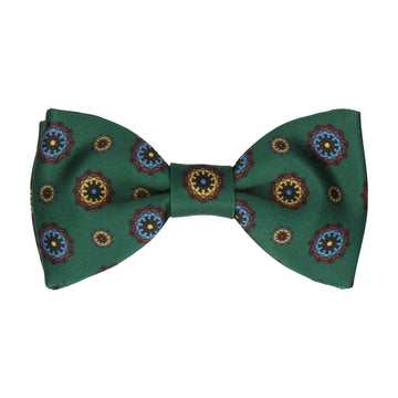 Dark Green Classic Medallion Bow Tie