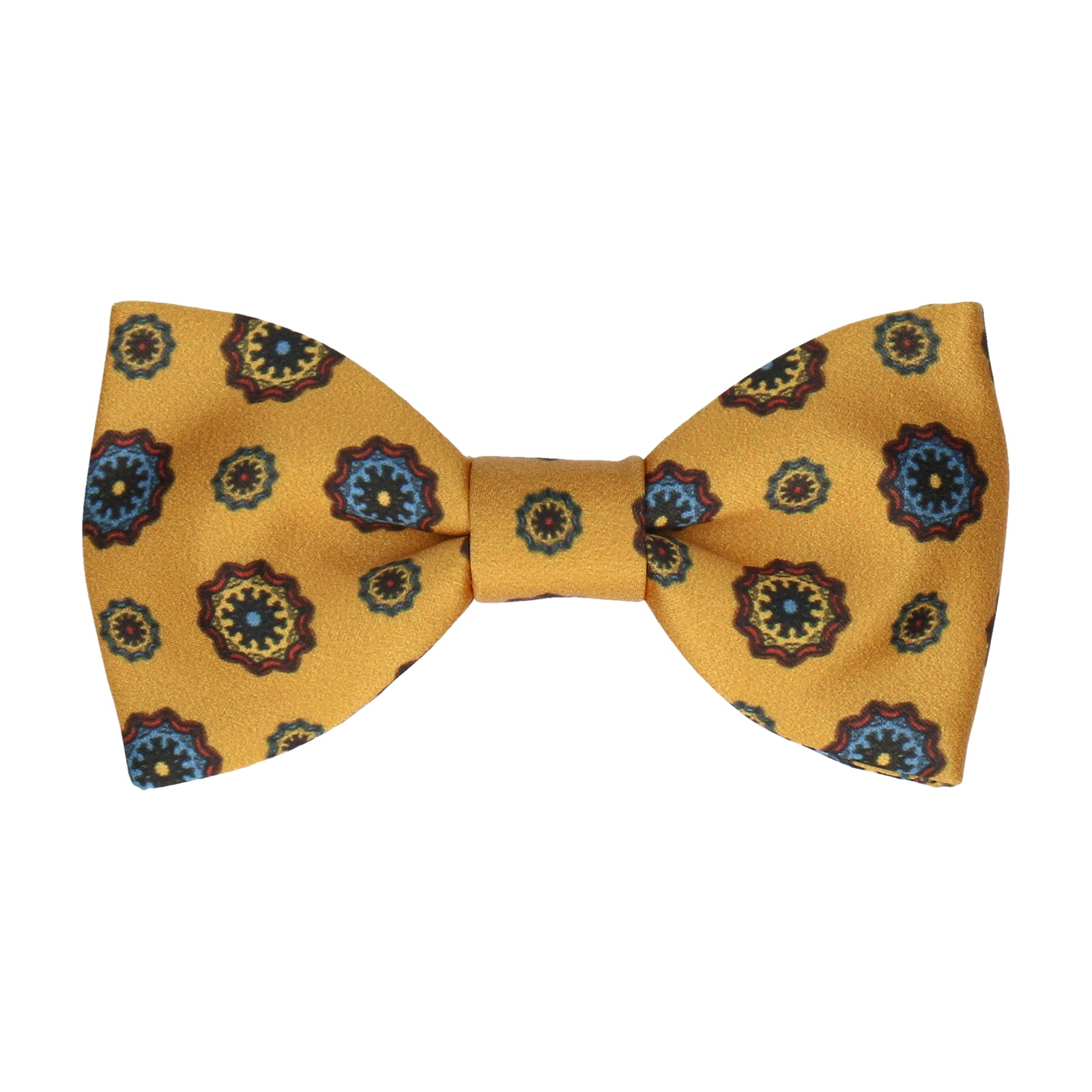 Mustard Yellow Classic Medallion Bow Tie