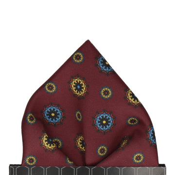 Maroon Classic Medallion Pocket Square