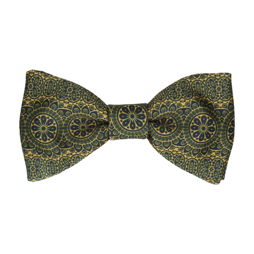 Victor Navy Blue & Gold Bow Tie