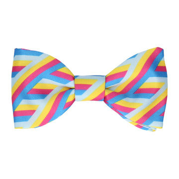 Retro 90s Bright Stripes Bow Tie