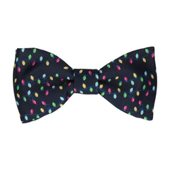 Navy Blue Christmas Lights Bow Tie