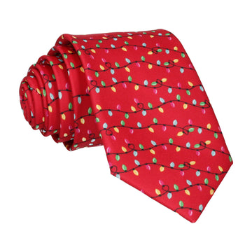 Christmas Lights Red Tie