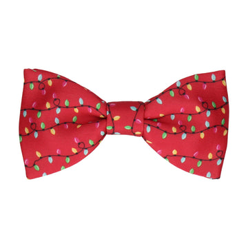 Red Christmas Lights Bow Tie