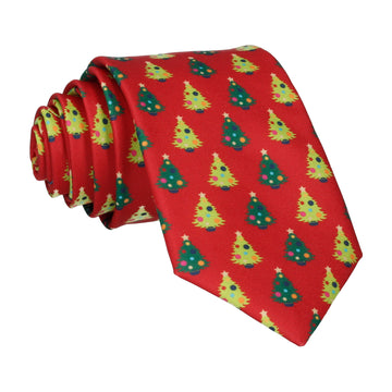 Christmas Trees Red Tie