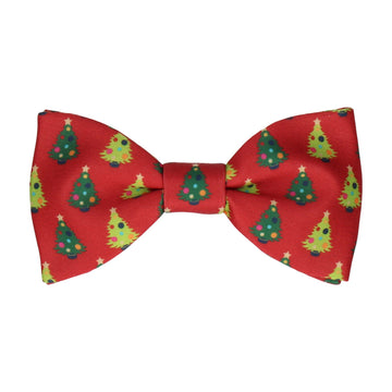Christmas Trees Red Bow Tie
