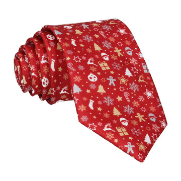 Ditsy Christmas Red Tie