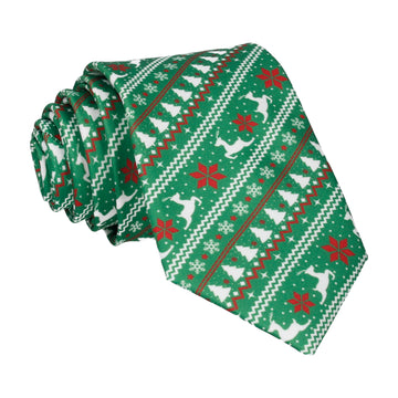Tree Fairisle Green Tie