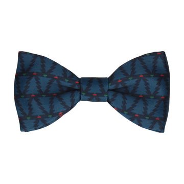 Block Xmas Tree Navy Blue Bow Tie