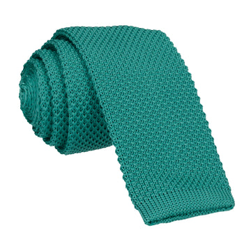 Emerald Green Knitted Tie