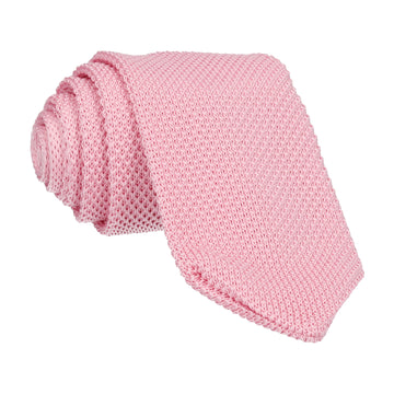 Petal Pink Point Knitted Tie