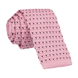 Pink Navy Flec Knitted Tie