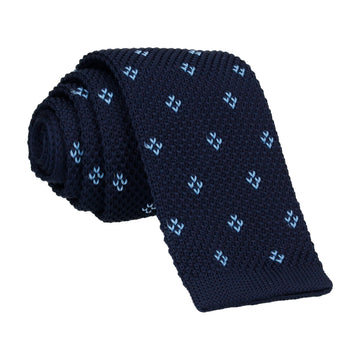 Blue Diamond Knitted Tie