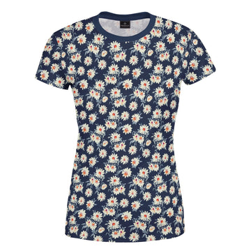 Fairford Floral Navy Women's T-Shirt