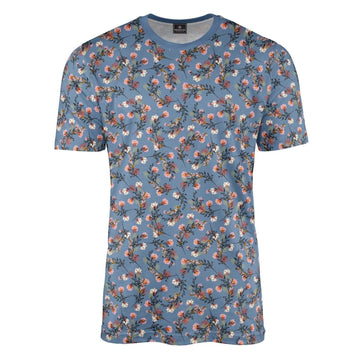 Emilia Floral Steel Blue T-Shirt