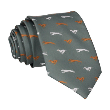Country Green Greyhound Tie