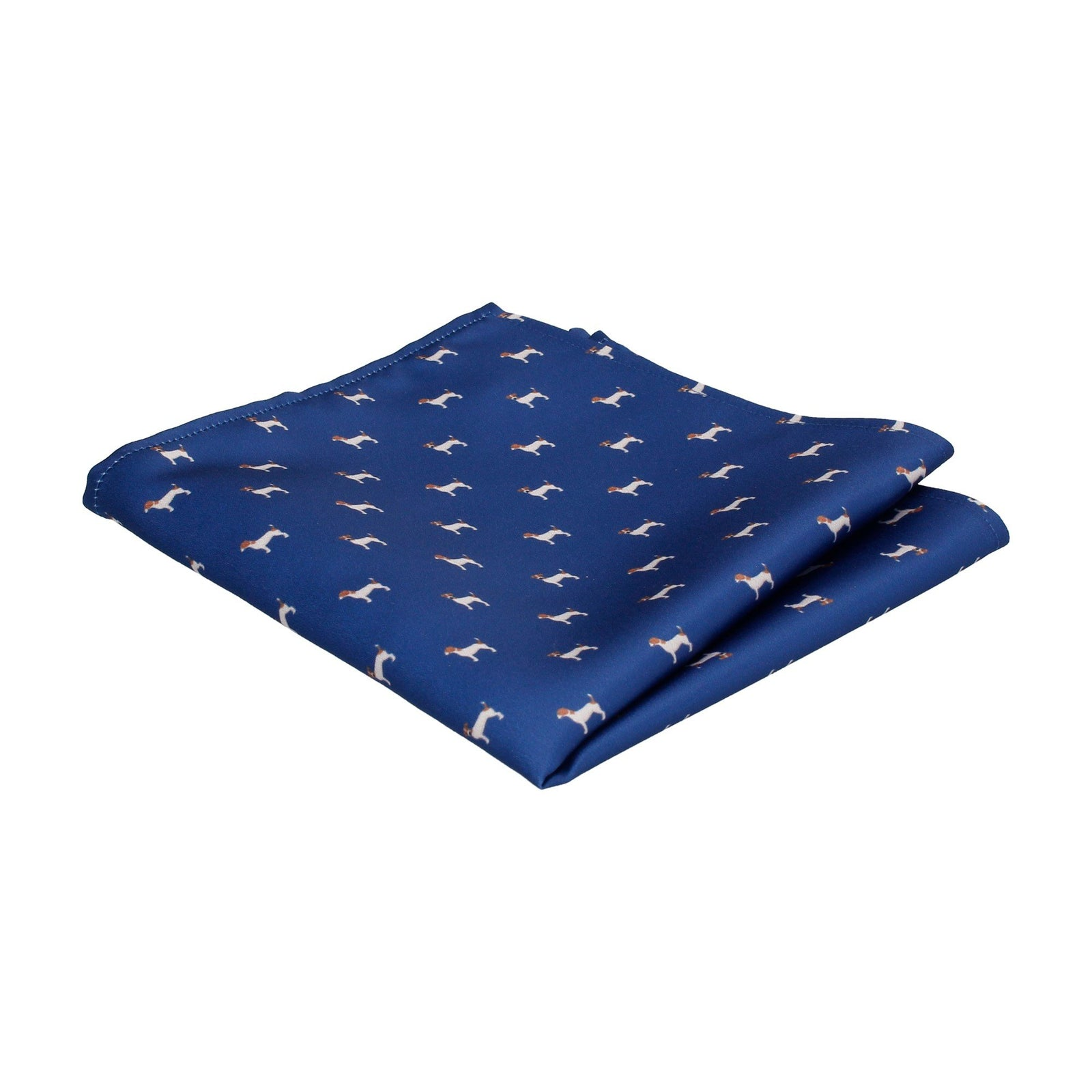 Blue Jack Russell Pocket Square