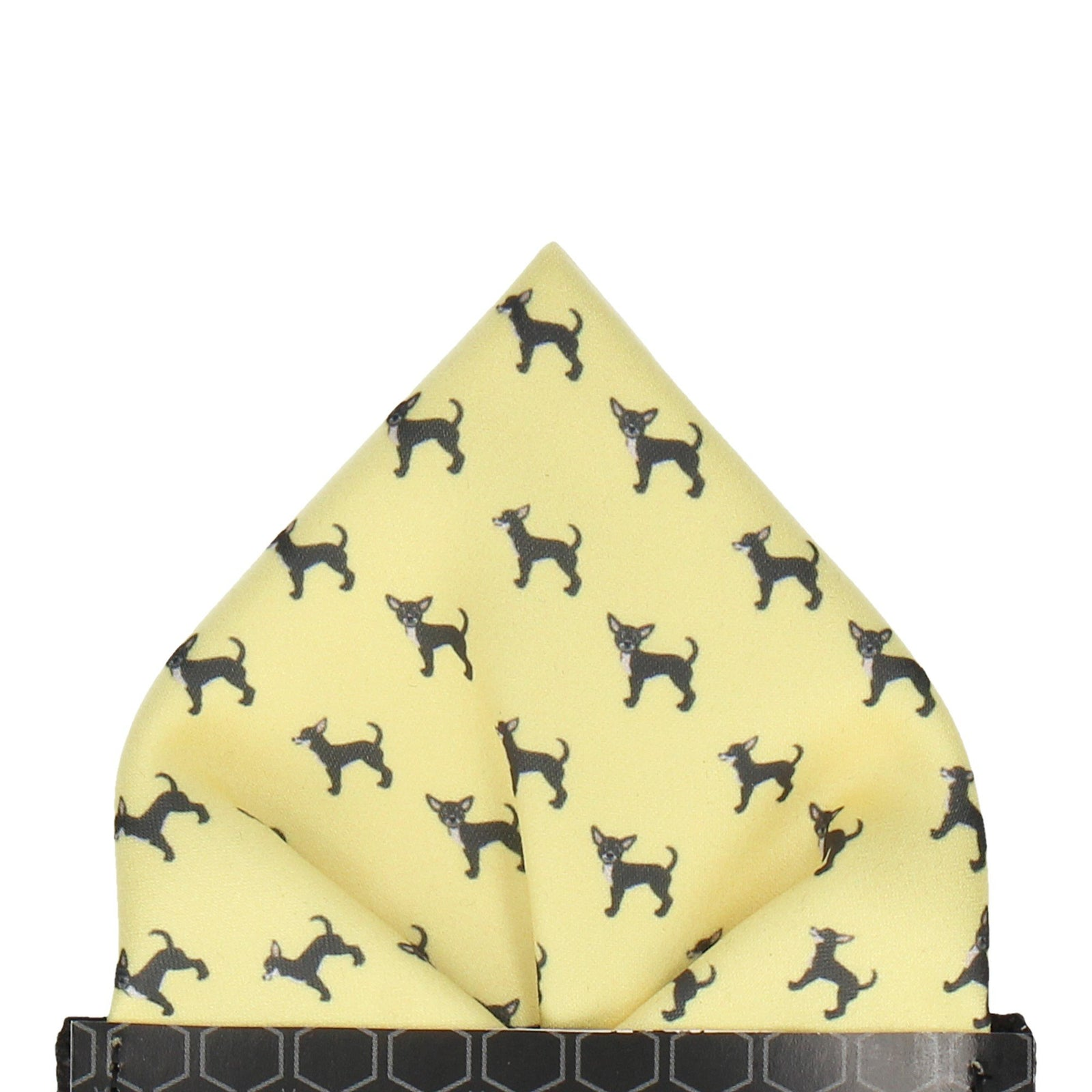 Chihuahua Lemon Yellow Dog Pocket Square